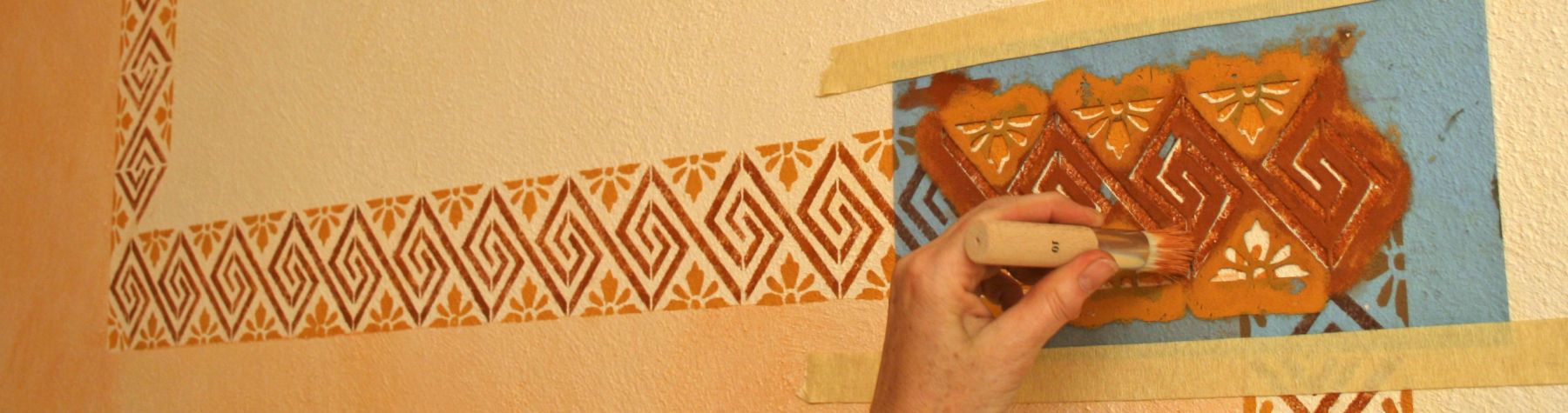 Wand streichen schwamm great wand streichen techniken - Wand patinieren ...